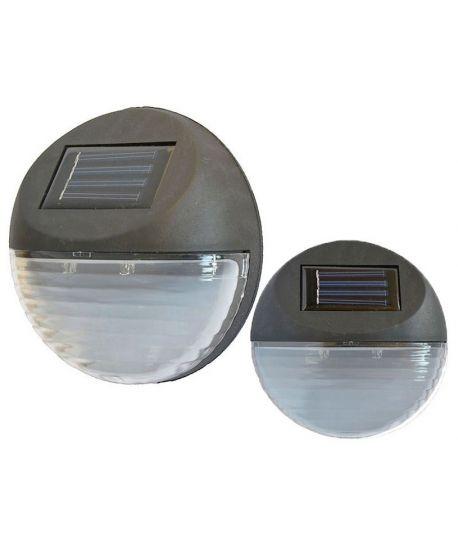 LAMPA SOLARNA KINKIET IDEALNA NA ELEWACJĘ I SCHODY 2LED P-111
