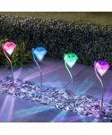 LAMPA SOLARNA DIAMENT 2LED BIAŁA/RGB P-780